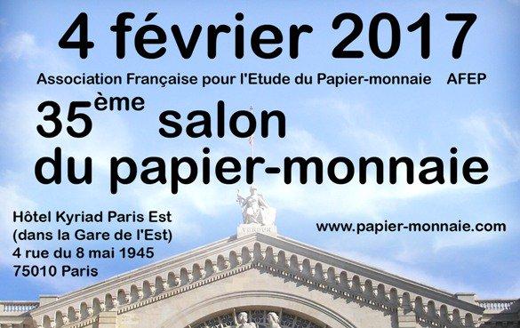 35e salon du papier monnaie de paris samedi 4 f vrier 2017 for Salon numismatique paris 2017