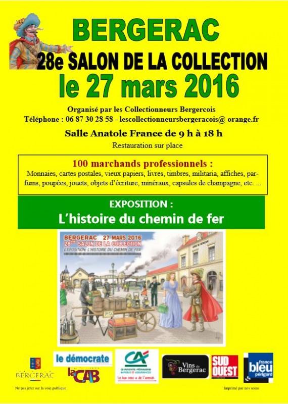 28e salon des collectionneurs bergeracois dimanche 27 mars - Salon de the bergerac ...