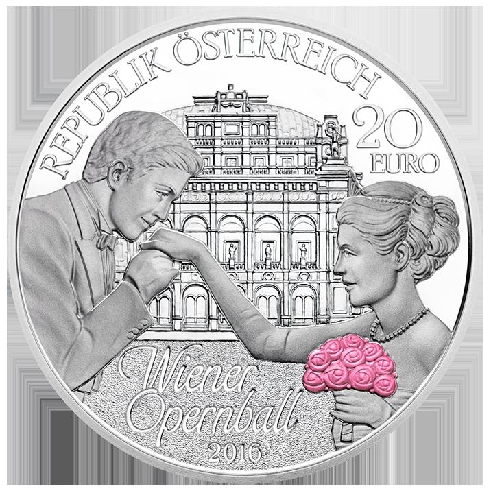 La Münze österreich Célèbre Le 60e Anniversaire Du Bal De Lopéra à