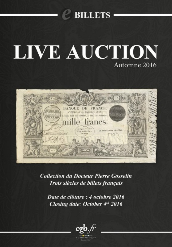 veille numismatique blog archive live auction billets automne 2016 d but de la live 14h00. Black Bedroom Furniture Sets. Home Design Ideas